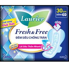 LAURIER FRESH & FREE ĐÊM SIÊU CHỐNG TRÀN 30 CM